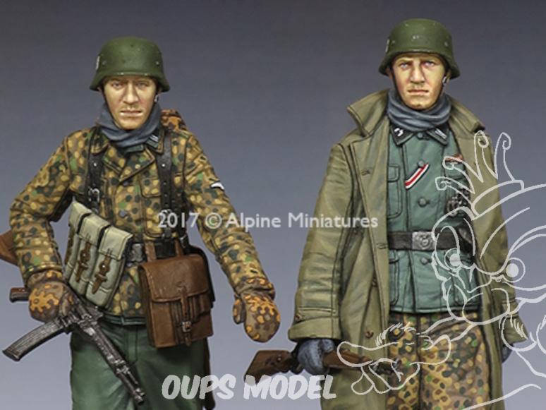 Alpine figurine 35231 Set Ensemble KG Hansen à Poteau Set n°2 (2 figurines) 1/35