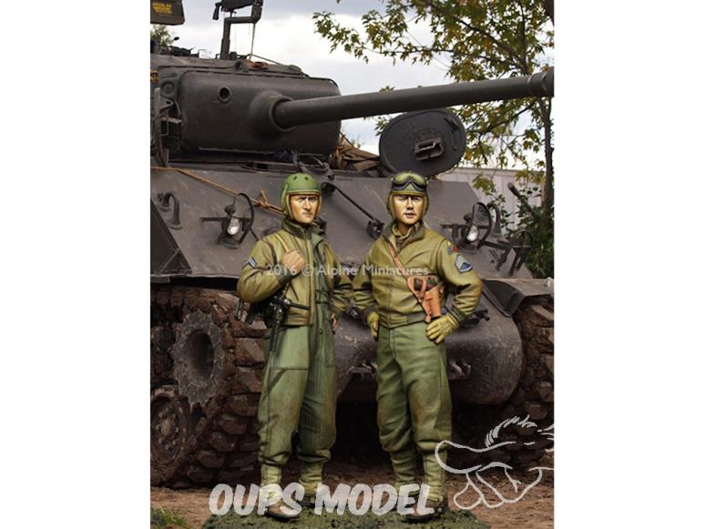 Alpine figurine 35219 Set Ensemble de 3e division blindée américaine (2 figurines) 1/35