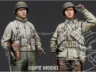 Alpine figurine 35186 Set Ensemble d'infanterie US WW2 ( 2 figurines) 1/35