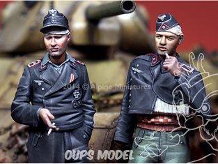Alpine figurine 35183 Set ensemble Equipage blessé de Panzer allemand n°1 et n°2 (2 figurines) 1/35