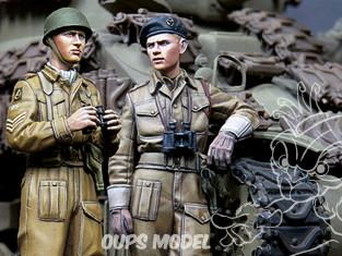 Alpine figurine 35180 Set Ensemble d'équipage britannique RAC AFV n°1 et n°2 (2 figurines) 1/35