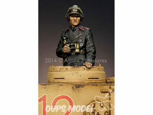 Alpine figurine 35175 Commandant de Panzer Commander n°1 1/35