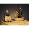Alpine figurine 35177 Set ensemble Commandant de Panzer n°1 et n°2 (2 figurines) 1/35