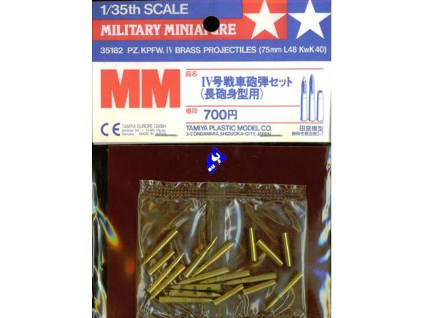 tamiya maquette militaire 35182 munitions laiton panz IV 1/35
