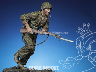 """Alpine figurine 16018 """"La charge"""" USMC 1943/44 1/16"""