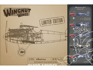 Wingnut Wings maquette avion 32901 Albatros D.V 'Jasta18' Limited Edition 1/32
