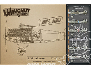 Wingnut Wings maquette avion 32904 Albatros D.V 'Camouflaged' Limited Edition 1/32