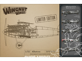 Wingnut Wings maquette avion 32907 Albatros D.Va 'Black Beauties' Limited Edition 1/32