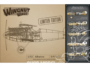 Wingnut Wings maquette avion 32908 Albatros D.Va 'Wooden Wonders' Limited Edition 1/32