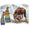 Master Box maquette figurines 35203 Serie Pistolero Marshal Tom Tucker Molly et Rebecca Hanson 1/35
