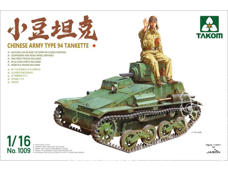 Takom maquette militaire 1009 Tankette de l'armée chinoise Type 94 1/16