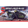 Airfix maquette militaire A02302V Buffalo et Willys MB Jeep 1/76