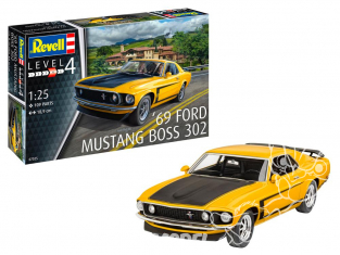 Revell maquette voiture 67025 Model Set 1969 Boss 302 Mustang 1/24