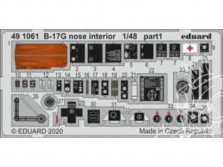 EDUARD photodecoupe avion 491061 Intérieur nez B-17G Hk Models 1/48