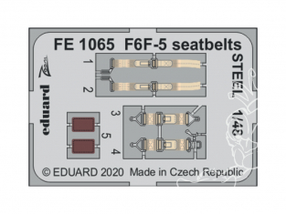 EDUARD photodecoupe avion FE1065 Harnais métal F6F-5 Eduard 1/48