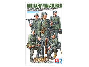 TAMIYA maquette militaire 35371 ENSEMBLE D'INFANTERIE ALLEMANDE MILLIEU WWII 1/35