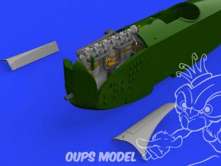 Eduard kit d'amelioration brassin 672223 Fokker D.VII (OAW) moteur Mercedes D.III Eduard 1/72