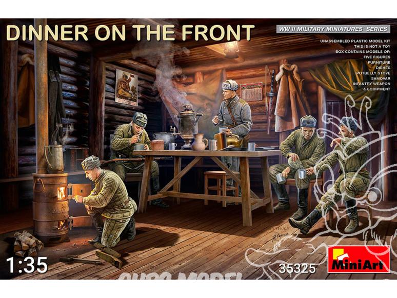 Mini Art maquette militaire 35325 Sovietiques Diner sur le front 1/35