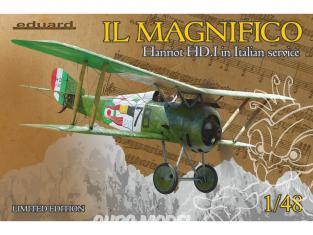 EDUARD maquette avion 11139 IL MAGNIFICO- Hnariot HD.I en Service Italien Edition Limitee 1/48