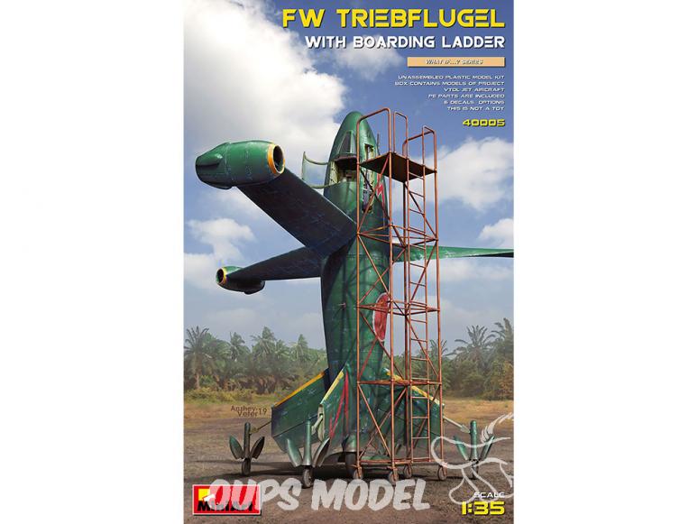 Mini Art maquette avion 40005 FOCKE WULF TRIEBFLUGEL AVEC ÉCHELLE D'EMBARQUEMENT 1/35