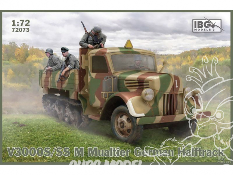 IBG maquette militaire 72073 V3000S/SSM Maultier Halfrtack Allemand 1/72
