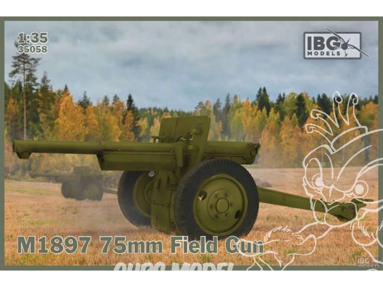 IBG maquette militaire 35058 Canon de campagne français de 75 mm M1897 service U.S. 1/35