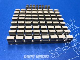 Squadron SQAA48001 Boîtes de munitions en résine US .50 Cal