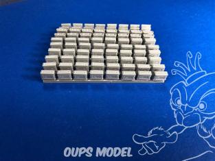 Squadron SQAA48002 Boîtes de munitions en résine US .30 Cal
