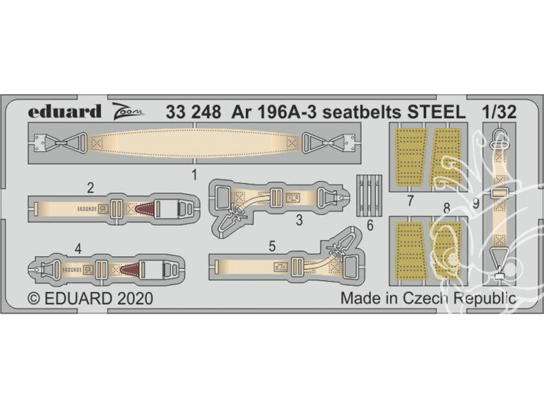 Eduard photodécoupe avion 33248 Harnais métal Arado Ar 196A-3 Revell 1/32