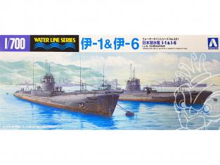 Aoshima maquette sous-marin 45916 I-1 & I-6 I.J.N. Water Line Series 1/700