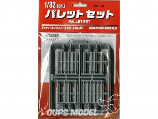 Fujimi maquette accessoire 112350 Set de Pallettes 1/32