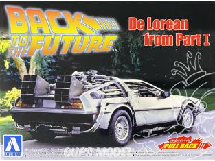 Aoshima maquette voiture 54758 DeLorean Retour vers le futur 1 1/43