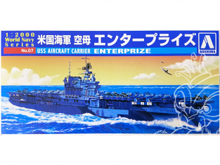 Aoshima maquette bateau 09383 USS Enterprise World Navy Series 1/2000