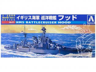 Aoshima maquette bateau 09321 HMS Hood World Navy Series 1/2000