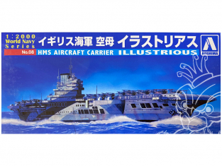 Aoshima maquette bateau 09390 HMS Illustrious World Navy Series 1/2000