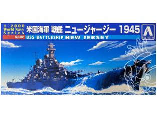 Aoshima maquette bateau 09338 USS New Jersey 1945 World Navy Series 1/2000