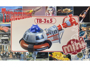 Aoshima maquette 08379 Thunderbirds mini TB-3 & 5