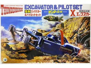 Aoshima maquette Thunderbirds 08713 Excavatrice & Set pilotes