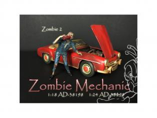 American Diorama figurine AD-38298 Mécanicien Zombie II 1/24