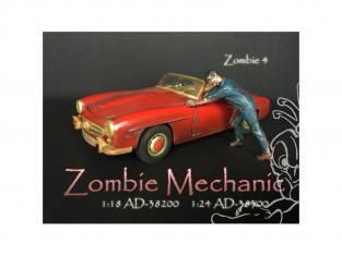 American Diorama figurine AD-38300 Mécanicien Zombie IV 1/24