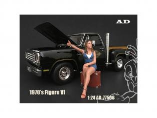 American Diorama figurine AD-77506 Figurine 70's Style VI 1/24