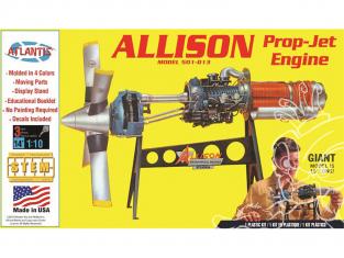 Atlantis maquette avion H1551 Moteur Allison Prop Jet 501-D13 1/10