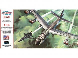 Atlantis maquette avion H273 B-52 avec X-15 sur support pivotant 1/175
