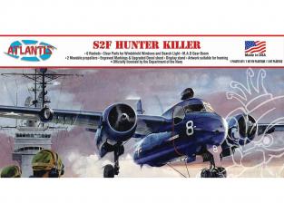 Atlantis maquette avion A145 S2F Hunter Killer 1/54