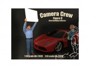 American Diorama figurine AD-77478 Equipe de tournage - Équipage tenant le réflecteur 1/24