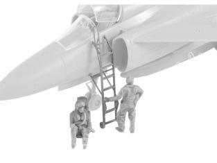 Cmk figurine F72352 SK-37 / SK-37E Viggen pilote et intructeur operateur 1/72