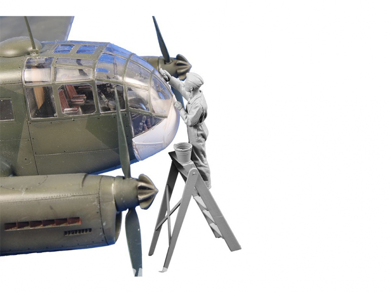 CMK Personnage resine F48358 Siebel Si 204 / Aero C-3 pilote (nettoyage du vitrage) 1/48