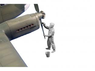 CMK Personnage resine F48359 Siebel Si 204/Aero C-3 mecanicien (helice maintenance) 1/48