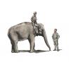 CMK Personnage resine F48345 Mécanicien RAF WWII en Inde avec Éléphant et son Mahout (2 fig. + Éléphant) 1/48