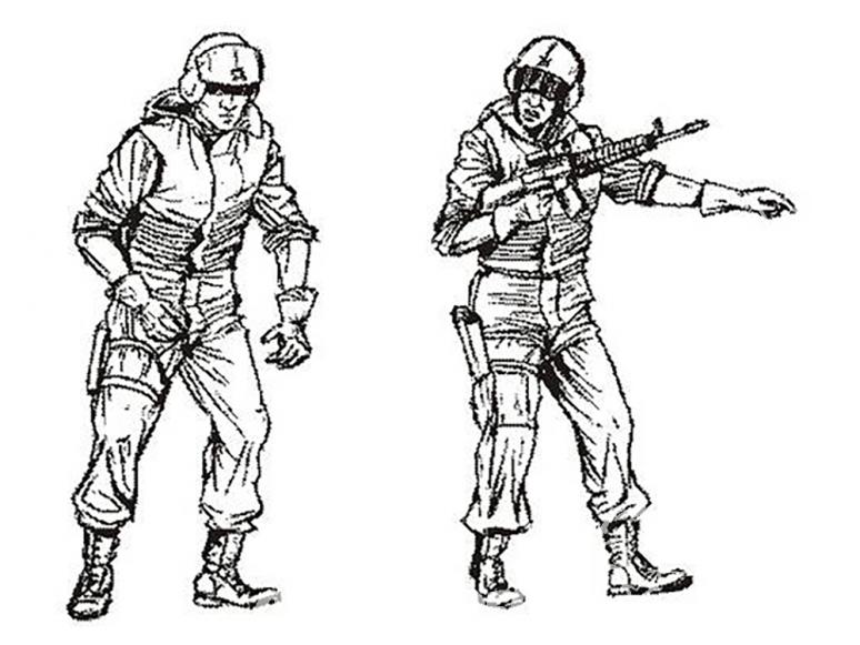 CMK figurine f35197 US Special Forces Medics pour UH-60 2 figurines 1/35